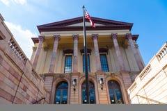 Vieille entrée de tribunal du comté de Lancaster photographie stock libre de droits