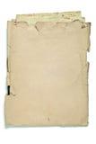 Vieille enveloppe avec des papiers Image stock