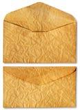 Vieille enveloppe avec la lettre à l'intérieur Photographie stock libre de droits