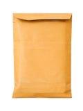 Vieille enveloppe brune proche de document photo stock