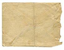 Vieille enveloppe d'isolement pour la lettre Photographie stock
