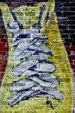Vieille espadrille jaune Image libre de droits