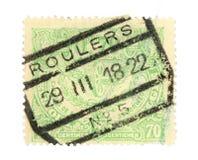 Vieille estampille de Belgique Image libre de droits