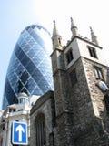 Vieille et neuve architecture à Londres Photographie stock libre de droits