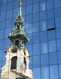 Vieille et neuve architecture, Vienne Photo stock