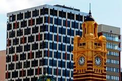 Vieille et neuve Melbourne Photographie stock libre de droits