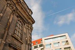 Vieille et nouvelle architecture, Dresde Photo libre de droits