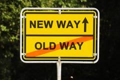 Vieille et nouvelle manière Photo stock