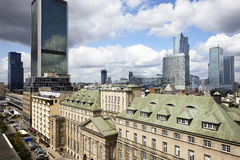 Vieille et nouvelle Varsovie Photographie stock