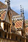 Vieille et pittoresque ville de Frances, de Beaune photos stock