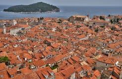 Vieille et pittoresque ville de la Croatie, de Dubrovnik photos stock