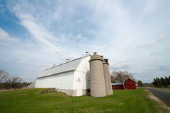 Vieille exploitation laitière du Wisconsin, grange Image libre de droits