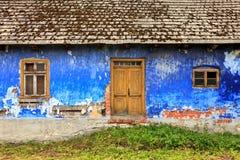 Vieille façade colorée de maison Photos stock