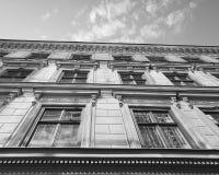 Vieille façade de bâtiment à Stockholm Suède Image stock