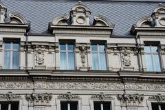Vieille façade de construction Photos stock