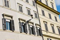 Vieille façade de construction Photo libre de droits