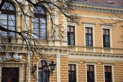 Vieille façade de construction Images libres de droits