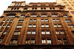 Vieille façade et ses vitraux Photo stock