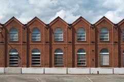 Vieille façade industrielle Photo libre de droits