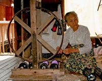 Vieille femme de la Birmanie Photo libre de droits