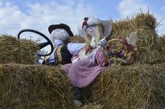 Vieille femme et paysan Photo libre de droits