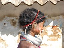 Vieille femme tribale de Bonda Photos libres de droits