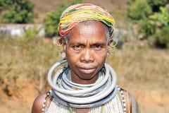 Vieille femme tribale de Bonda Image stock