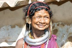 Vieille femme tribale de Bonda Photographie stock
