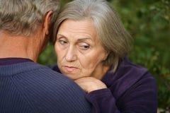 vieille femme triste photo libre de droits