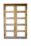 Vieille fenêtre d'isolement sur le fond blanc Images stock