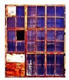 Vieille fenêtre d'usine, d'isolement sur le fond blanc, Photo stock