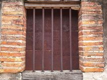 Vieille fenêtre dans la vieille maison de Songkhla, Thaïlande Photo libre de droits