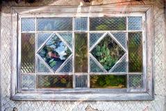 Vieille fenêtre de cottage rustique Photographie stock