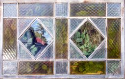 Vieille fenêtre de cottage rustique Photographie stock libre de droits