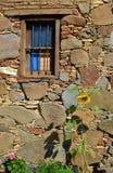 Vieille fenêtre en bois Photos libres de droits