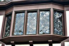 Vieille fenêtre en saillie Image libre de droits
