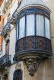 Vieille fenêtre en saillie en bois Images libres de droits