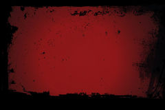 Vieille fenêtre rouge avec les cadres sales images stock
