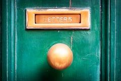 Vieille fente de courrier Images libres de droits