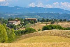 Vieille ferme typique dans la région Toscane de chianti image stock