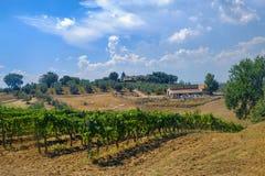 Vieille ferme typique dans la région Toscane de chianti photo libre de droits
