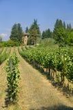 Vieille ferme typique dans la région Toscane de chianti image libre de droits
