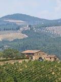 Vieille ferme typique dans la région Toscane de chianti photographie stock libre de droits