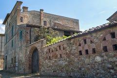 Vieille ferme typique dans la région Toscane de chianti photo stock