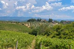 Vieille ferme typique dans la région Toscane de chianti images stock