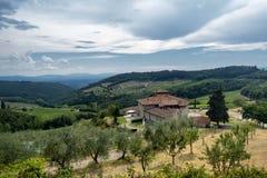 Vieille ferme typique dans la région Toscane de chianti photographie stock