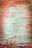 Vieille feuille avec le backgroun rouge et bleu-clair de couches Photos stock