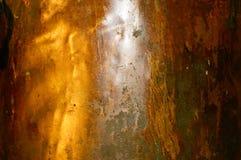 Vieille feuille de cuivre Photographie stock