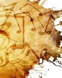 Vieille feuille de musique illustration stock