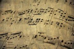 Vieille feuille de musique Images stock